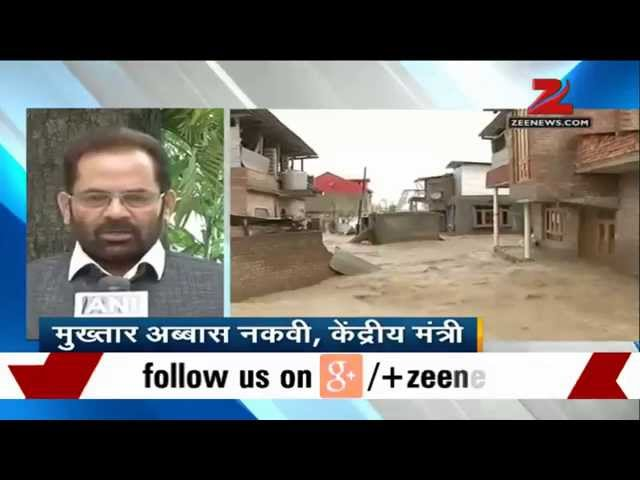 PM Modi rushes Naqvi to Kashmir to monitor flood situation