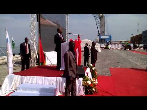 Alpha Condé inaugure le terminal à containeurs au port de Conakry