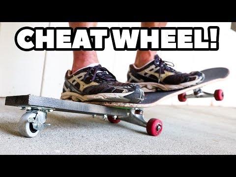 SKATEBOARD TRAINING WHEEL FOR MANUALS! *The CHEAT WHEEL*