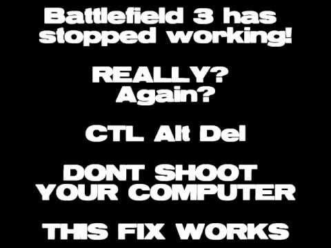 Battlefield 3 has stopped working? 32bit how to  fix. post patch,Nov 24 for PC, VISTA,