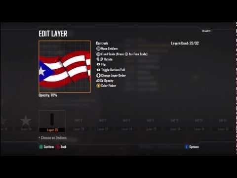 Black ops 2 Emblem: Puerto Rican Flag