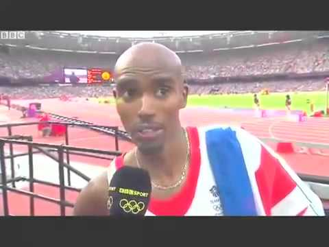 Mo Farah win 5000m olympic 2012 with his double goldmedal london 1