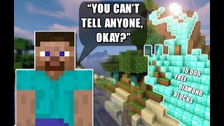 If You Tell Everyone Your Darkest Secret, You Win Diamond Blocks | Minecraft