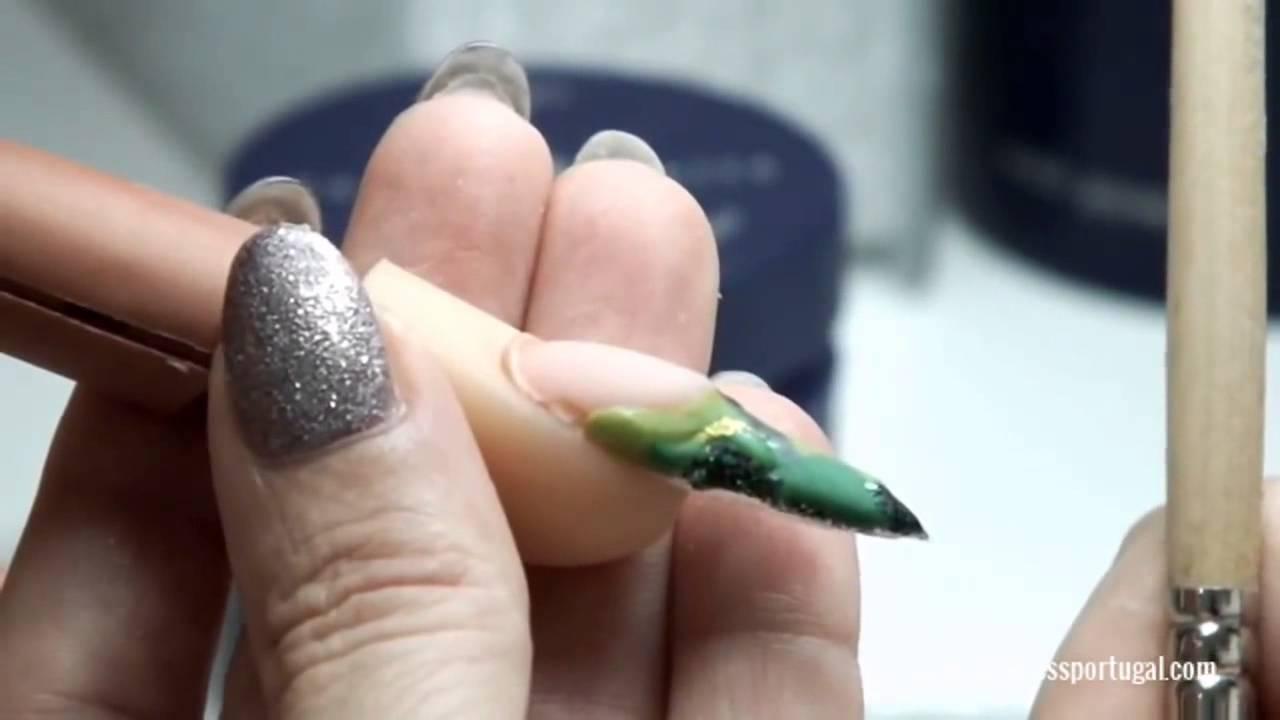 Nail Art Acrílicos de Côr em
