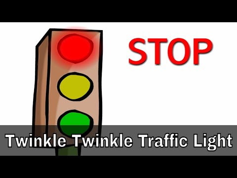 Twinkle Twinkle Traffic Light - English Nursery Rhymes - Cartoon animated Rhymes For Kids video