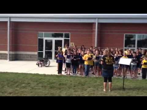 Rachel singing let it be with henryville elementary school