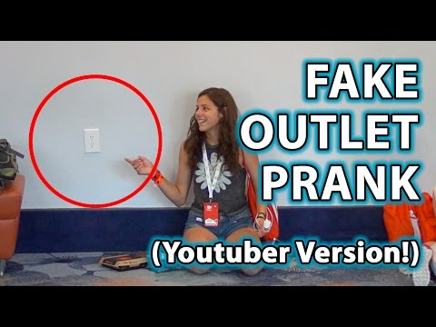 FAKE OUTLETS PRANK 2! (YouTuber Version!)