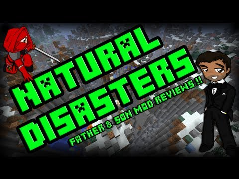 Minecraft Mod Reviews (Father & Son) - NATURAL DISASTERS by Jokiboy