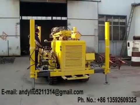 portable Pneumatic DTH drilling rig AKL 150D video 02 for upload