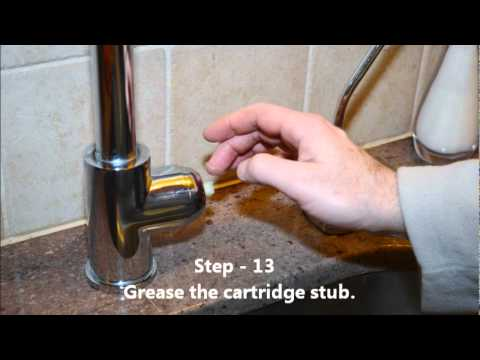 KRAUS Chrome Kitchen Faucet 1602 Changing the Cardridge - YouTube