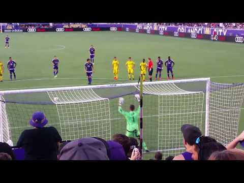 Orlando city vs Columbus crew goal from kaka #kaka celebrate his goal with the fans