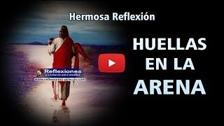 Huellas de Cristo en la arena - Reflexiones cristianas
