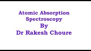 PRINCIPAL OF ATOMIC ABSORPTION SPECTROSCOPY