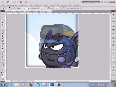 Как сделать аватарку в фотошопе на тему вормикс! на tubethe.com