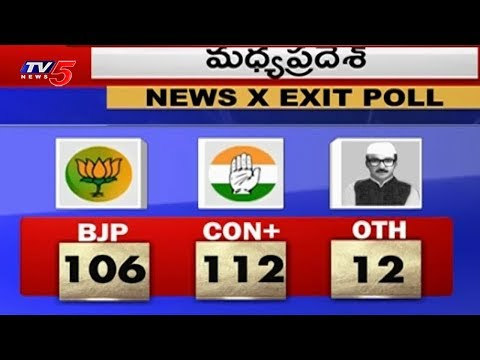 కాంగ్రెస్-బీజేపీ మధ్య హోరాహోరీ పోటీ! | Exit Polls Predict of Chhattisgarh, MP & Rajasthan | TV5