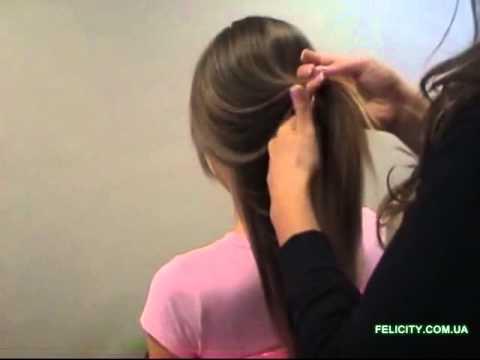 Как крепить волосы на клипсах,