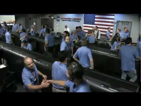 Curiosity landing: Mission control at NASA's Jet Propulsion Laboratory.wmv