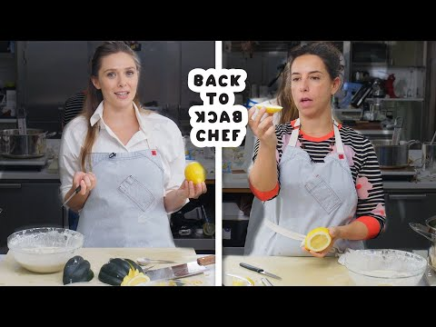 Elizabeth Olsen Tries to Keep Up with a Professional Chef | Back-to-Back Chef | Bon Appétit