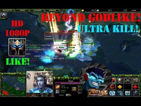 ★DoTa Razor - GamePlay | Guide★ Beyond Godlike! Ultra kill!★