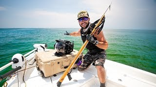 Spearfishing Creepy TIGER SHARK Caves Underwater!!! (Crazy Bait Ball)  | Jiggin' With Jordan