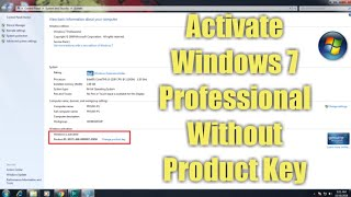 How to activate Windows 7 Professional without product key