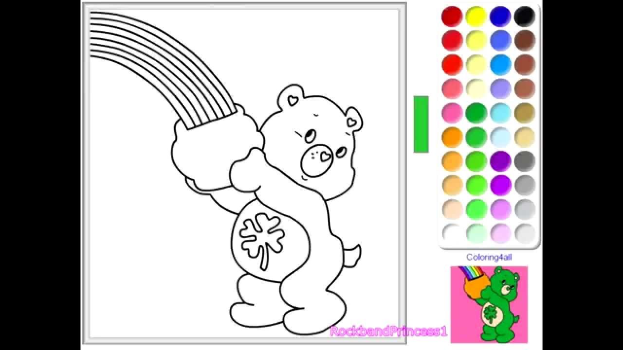 Book care coloring sheet - Book Care Rules Coloring Page Care Bear Coloring Pages