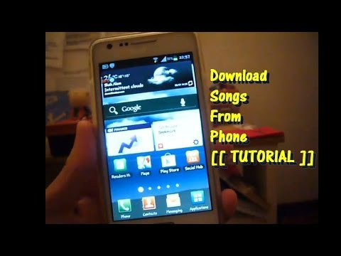 How To Download Songs For FREE To Your Android Phone [[ TUTORIAL ]]