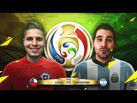FINAL COPA AMERICA CENTENARIO | CHILE VS ARGENTINA | FIFA 16