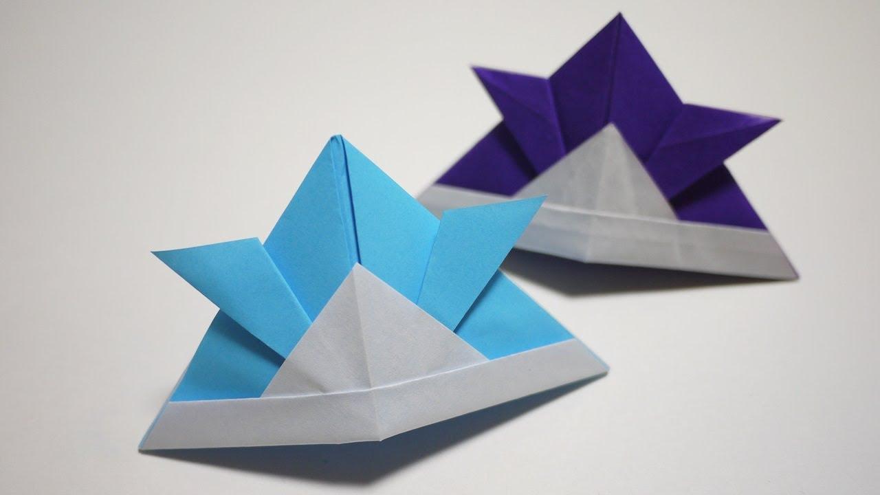 すべての折り紙 手作り折り紙 : 手作りかぶとの作り方【折り紙 ...