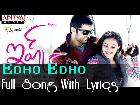 Ishq Movie Song With Lyrics - Edho Edho Song - Nithin, Nithya Menon video