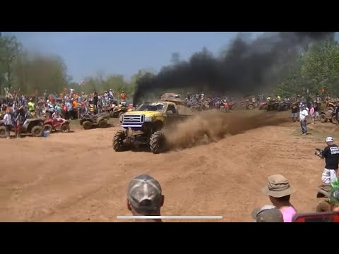 Mud Trucks Jumping at Louisiana Mudfest's Trucks Gone Wild 2014