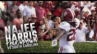Najee Harris scores an insane 42-yard touchdown during Alabama's 47-23 win over South Carolina