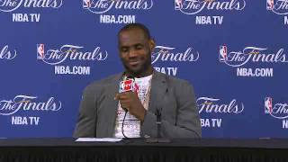 NBA Finals: LeBron James Game 6 press conference