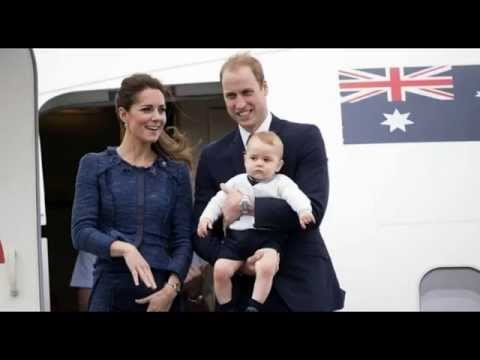 Kate Middleton Prince William & Prince George Departure New Zealand go to Sydney