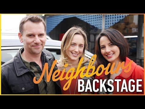 Neighbours Backstage - Scott Major & Alin Sumarwata (Lucas & Vanessa Fitzgerald)