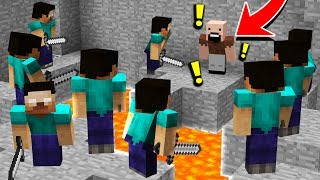 10 HEROBRINES vs 1 NOTCH! (Minecraft Murder Mystery Trolling)