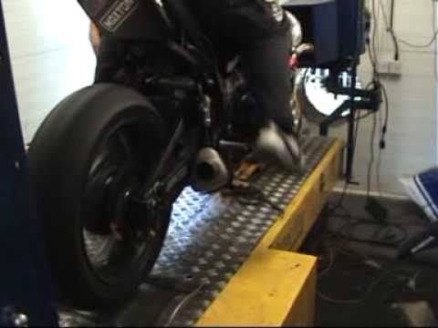 Supercharged Hayabusa on Dyno
