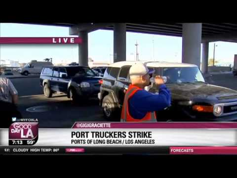 Truck Drivers At Ports Of LA, Long Beach Strike Over Employee Status