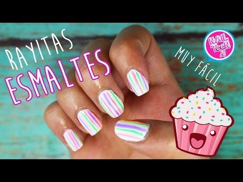 Rayitas para las uñas con esmalte