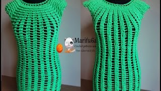 How to crochet easy two side top tunic free tutorial pattern by marifu6a