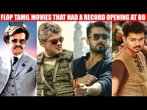 Top Tamil Actors Flop movies that had a record opening at boxoffice | Wetalkiess | Kollywood