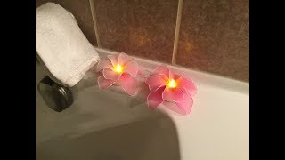 How to make a nylon stocking flowers with LED Tealight