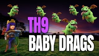 Clash of Clans: BABY DRAGS at TH9 for 3 STARS (Quick Guide)