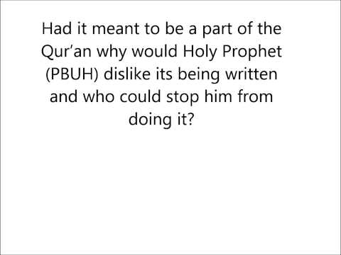 Answering Islamophobes - Was a Quranic Verse eaten by a Goat?