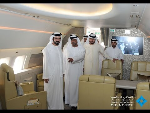 Tuesday, July 16, 2013 - UAE Vice President, Prime Minister and Ruler of Dubai His Highness Sheikh Mohammed bin Rashid Al Maktoum toured the Airbus A319 today, the private jet acquired by ...
