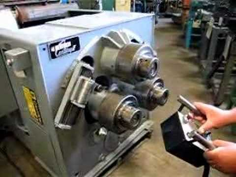 Bertsch Hydraulic Angle Roll Ring Roller Tube Roll Youtube