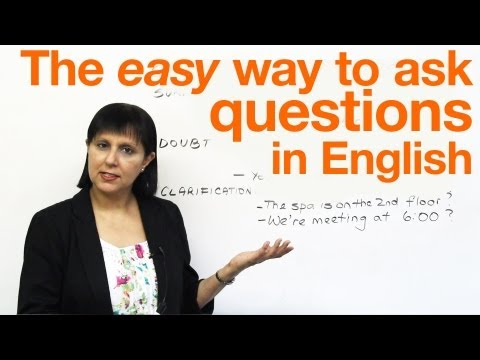 Speaking English: The easy way to ask questions