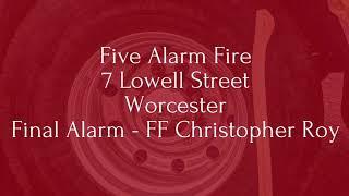 Worcester firefighter killed in 5-alarm blaze