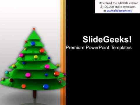 christmas tree with bells celebration time powerpoint templates ppt backgrounds for slides 1212 pptx