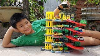 Trò Chơi Gara Xe Ô tô 4 Tầng ❤ ChiChi ToysReview TV ❤ Đồ Chơi Trẻ Em Baby Garage Car Toys